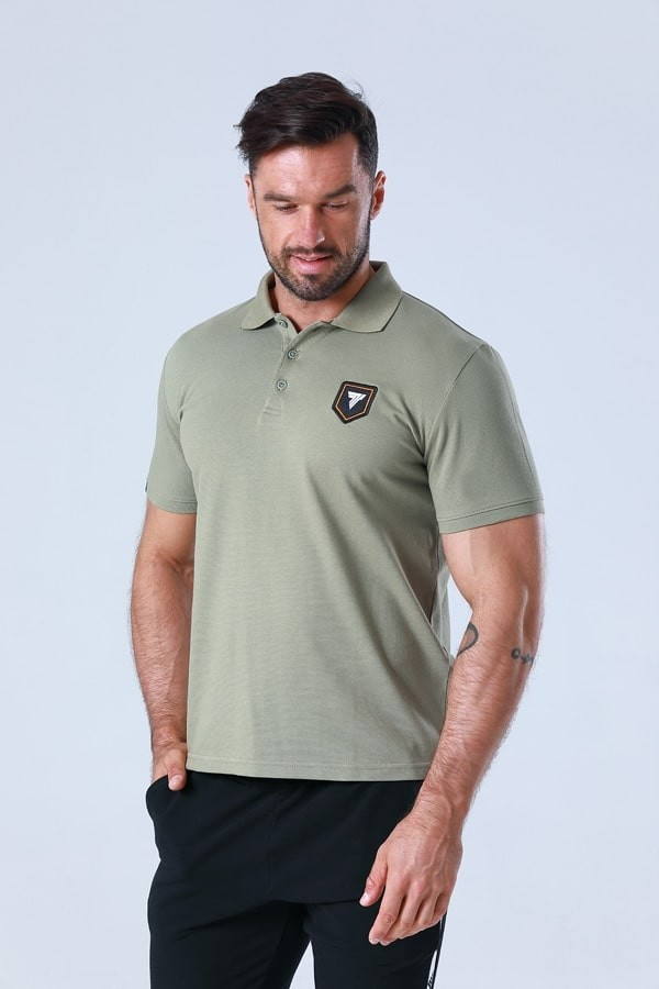 TW POLO 003 CREST OLIVE